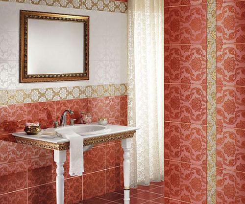 Кафельная плитка в ванной комнате