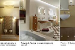 Примеры освещения ванной комнаты и ее различных элементов