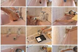 Последовательность нанесения эмалевого покрытия ванны