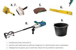Инструменты для гидроизоляции душевой кабины