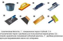 Инструменты для укладывания кафеля