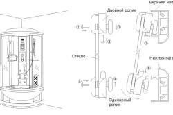 Установка дверей душевой кабины