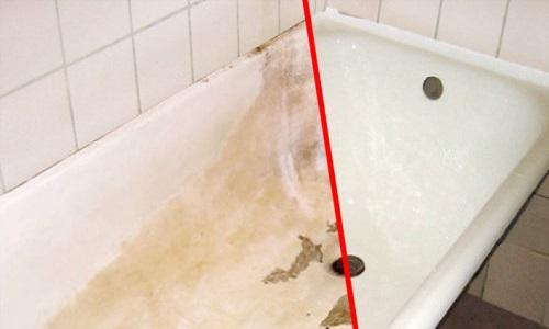 Ванна до и после покраски