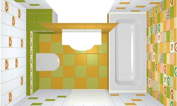 Проект укладки плитки в ванной