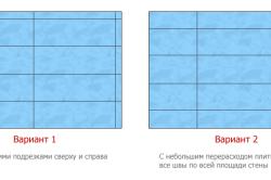 Схема расположения керамической плитки в ванной, при укладке которой не остаются маленькие кусочки