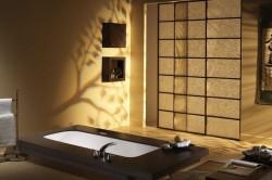 Интерьер ванной в японском стиле