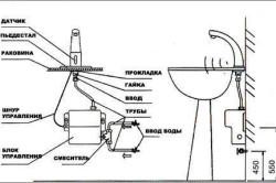 Схема сенсорного смесителя