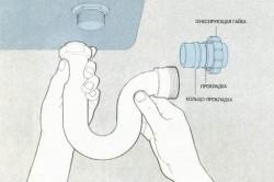 Схема соединения сифона