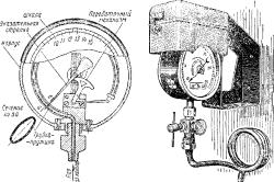 Схема стационарного манометра