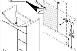 Схема крепления тумбы к стене
