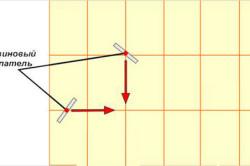 Схема затирки швов резиновым шпателем