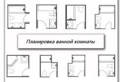 Примеры планировки ванной комнаты