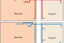 Схема горячего и холодного водоснабжения