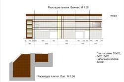 Рисунок 5. Процесс укладки плитки в ванной комнате