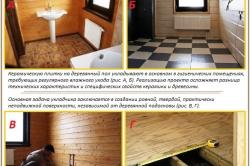 Основная задача укладчика плитки на деревянный пол