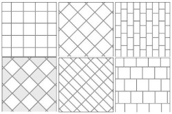 Самые распространенные схемы укладки плитки в ванной