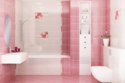 Глянцевая плитка в ванной комнате