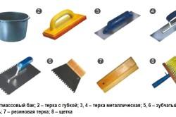 Инструменты, используемый при плиточных работах
