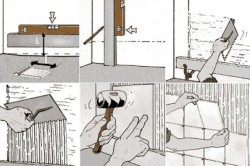 Процесс укладки плитки на стену