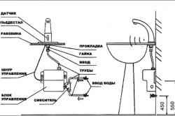 Схема подключения автоматического сенсорного смесителя