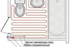 Схема расположения кабеля в ванной комнате