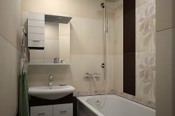 Разделение плиткой пространства ванной комнаты вертикально