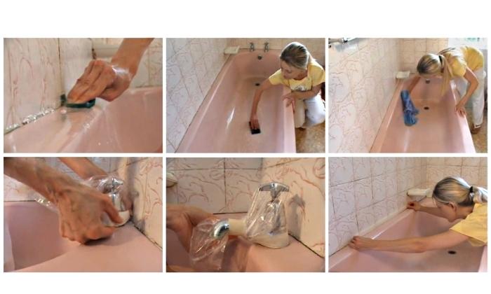 Этапы эмалировки ванны: подготовка, обезжиривание, зачистка