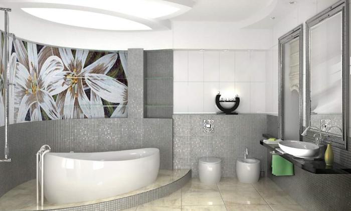 Дизайн ванной с помощью гипсокартона