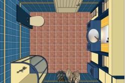 Планировка ванной комнаты с душевой кабиной