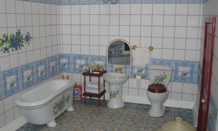 Декупаж в ванной комнате