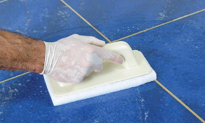 Очищение плитки после окончания работ