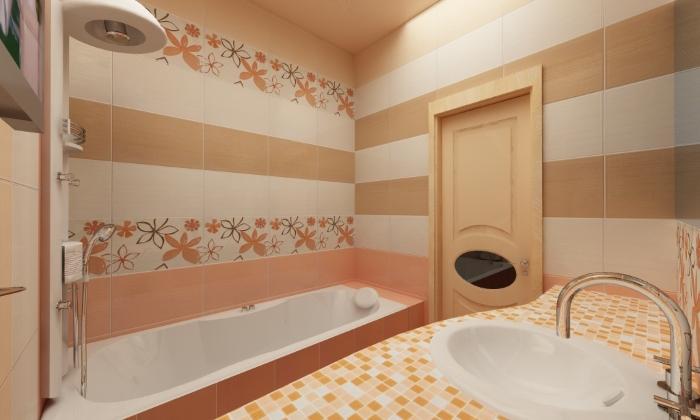 Современная ванная комната на даче