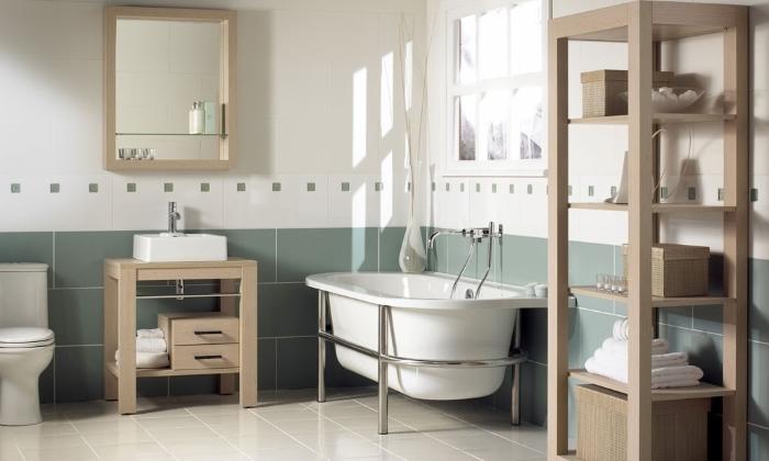 Оформление ванной комнаты в стиле кантри