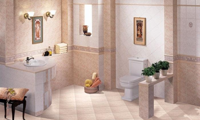 Напольная плитка в ванной