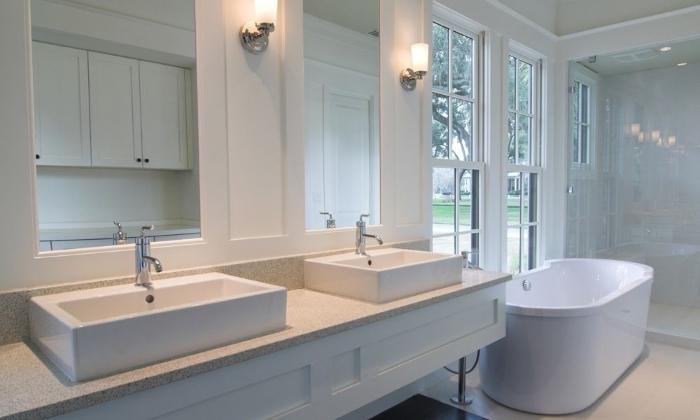 Пример освещения ванной комнаты