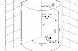 Схема монтажа душевого уголка