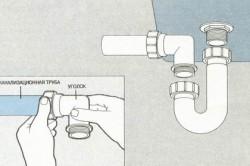 Как установить сифон на мойку
