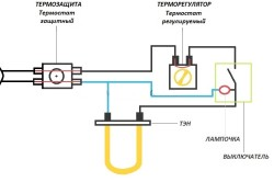 Схема электрического проточного водонагревателя