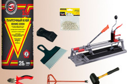 Инструменты для укладки плитки и выравнивания пола