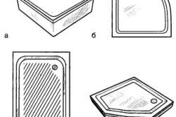 Поддоны различной конфигурации для душевых кабин