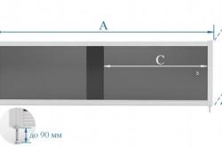 Схема необходимых замеров экрана для ванны