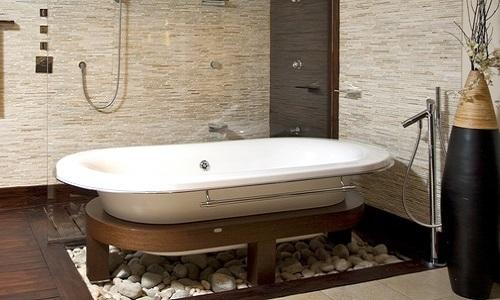 Современная ванная в японском стиле