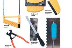 Инструменты для укладки мозаичной плитки