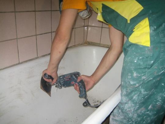 Как покрыть чугунную ванну акрилом своими руками видео