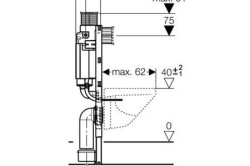 Схема установки инсталляции и подвесного унитаза