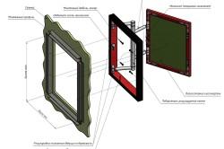 Схема установки люка под плитку