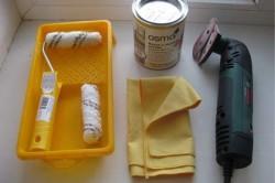 Инструменты для окрашивания ванны