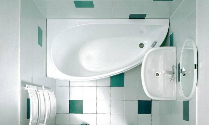План маленькой ванной комнаты