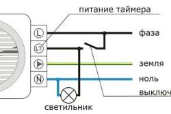 Схема подключения вентилятора одновременно со светом
