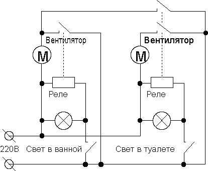 Схема подключения вентилятора